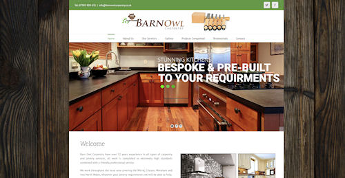 Website Design in Chester, Cheshire for Barn Owl Carpentry