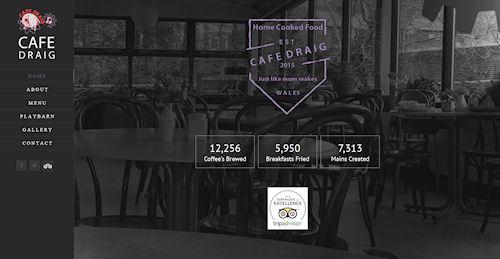 Cafe Restaurant Website Design Powys