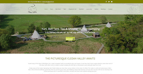 Glamping Website Design Powys