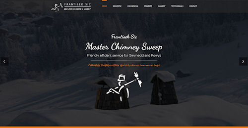 Web Design, Hosting and SEO for Masterclean Sweep, Machynlleth, Powys