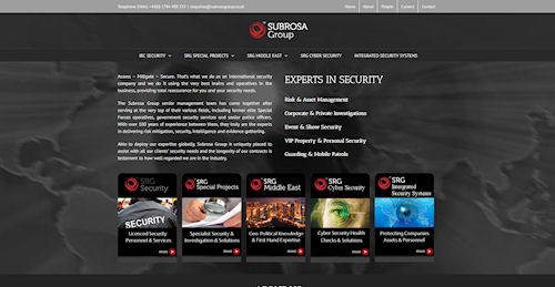 Web Design for Subrosa Group, London