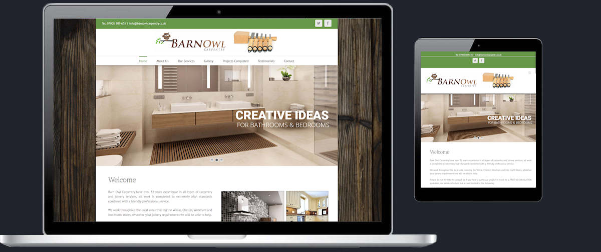 Website design Chester Cheshire, we also offer marketing (SEO), hosting and domain name registration, all sites are mobile responsive and content managed.