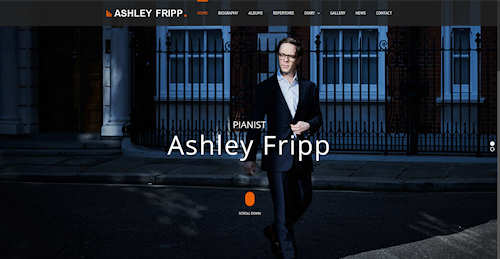 Web Design for Pianist Ashley Fripp in London