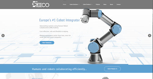 Web Design for Reeco Automation in Newtown Powys