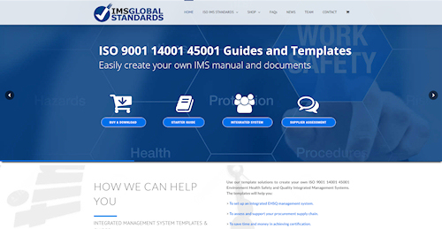Web Design for IMS Global Standards In Llanbrynmair, near Newtown