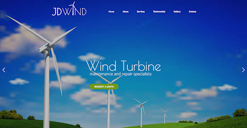 Website Design for JD Wind in Rhayader, Powys